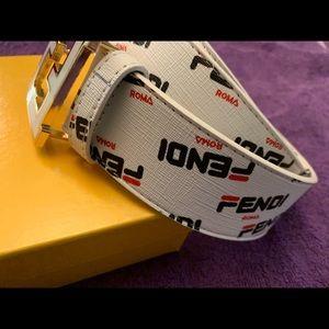 Fendi Accessories - Fendi Roma belt white size 36 up to 40 Waist